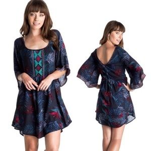 ROXY Boho Hawaiian Print Dress
